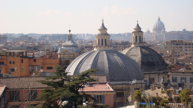 View from Borghese Gardens