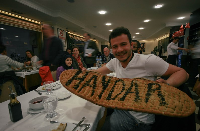 Hey, your name's on a giant piece of bread
