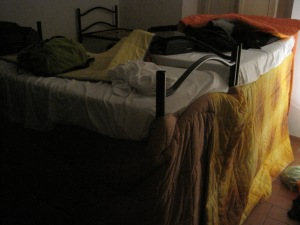 We compensated with blanket fort.
