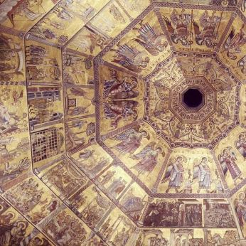 The dome of the Baptistery outside of the cathedral