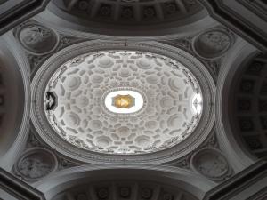 Borromini's dome at San Carlino (San Carlo alla Quattro Fontana)