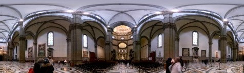 Panoramic of the interior of the Florence Cathedral