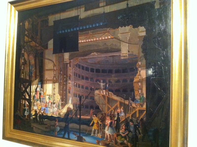 4. Paintings of theaters...