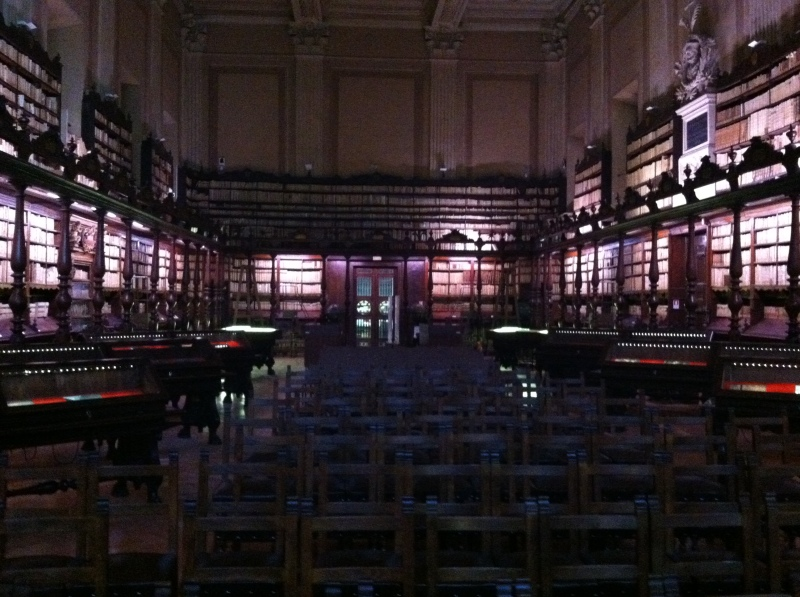 6. and walked into a spectacular archival library...