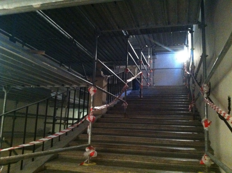 6. Then four flights of once grand stairs...