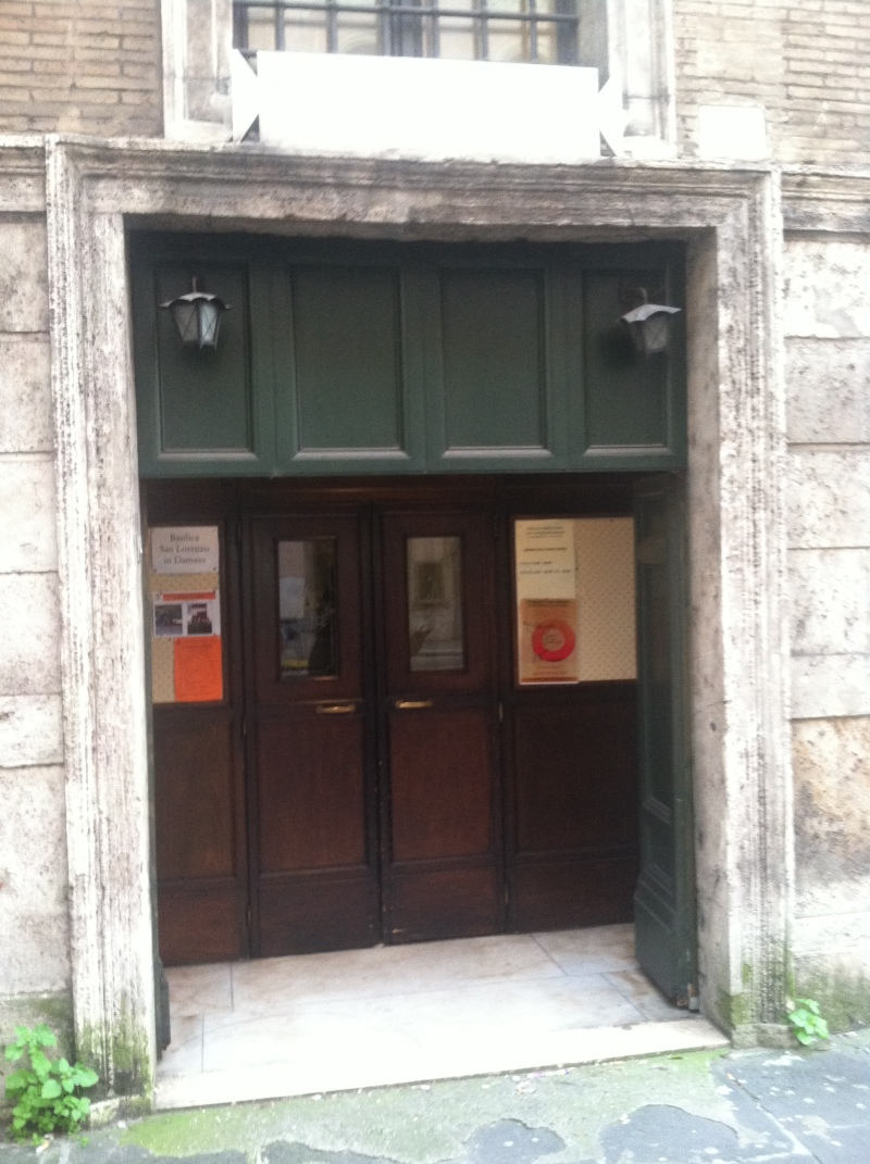 9. This is the modest side entrance to