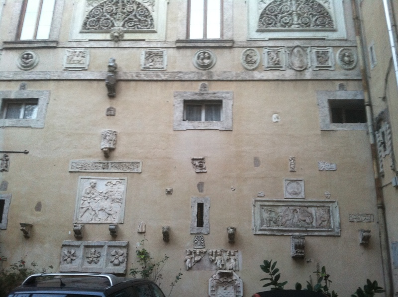 11. The second courtyard had a wall devoted to the display of spolia.
