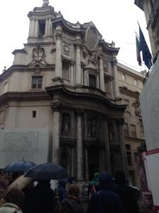 Facade of Borromini's Masterpiece