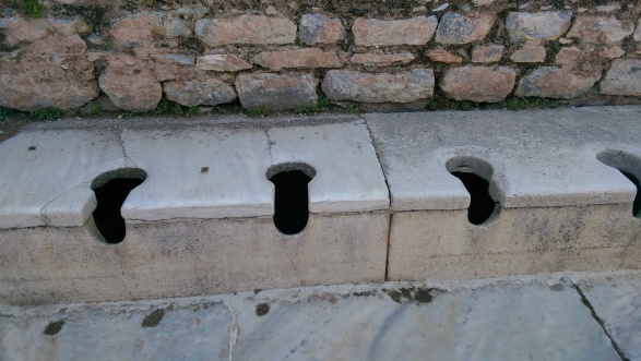 Ancient toilets of Ephesus