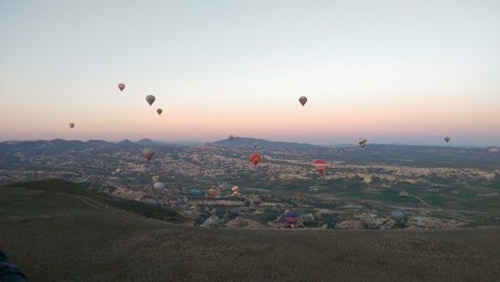 Sunrise floating over Cappadocia