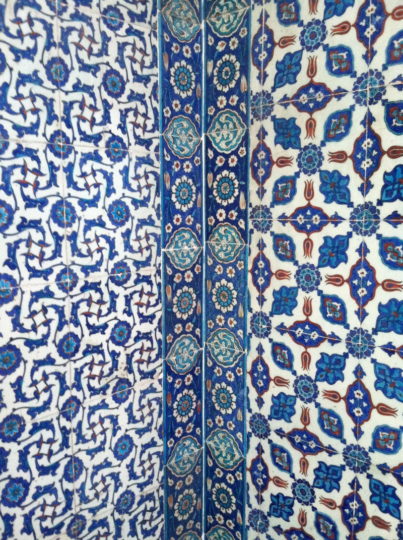 Iznik tile inside the New Mosque.
