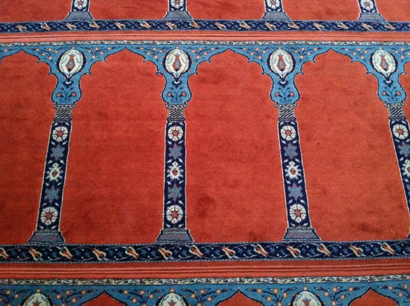 Prayer rug in the Rustem Pasa Mosque.