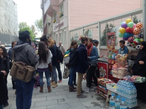 everybody buying magnum bars, supporting the Eyup Small business community