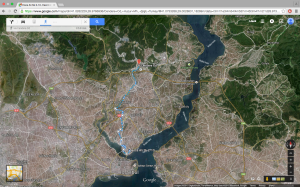 A full map of my walk from accent to Turk telekom