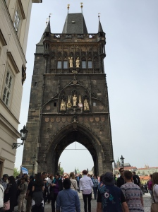 The grand entrance to the Charles Bridge