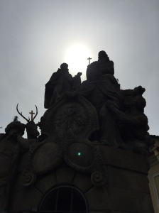 A statue on the Charles Bridge