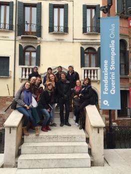A few of us at Scarpa's Querini Stampalia in Venice
