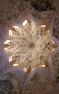 Ceiling detail in Nasrid Palaces